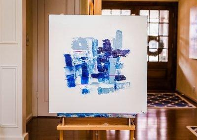 Pattern In Blue 1 | 24x24 | Christa Chain Art