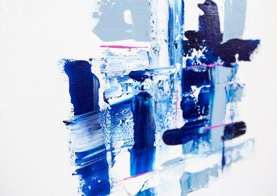 Pattern In Blue 2 | 24x24 | Christa Chain Art