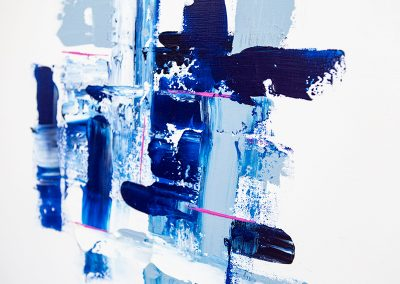 Pattern In Blue 3 | 24x24 | Christa Chain Art