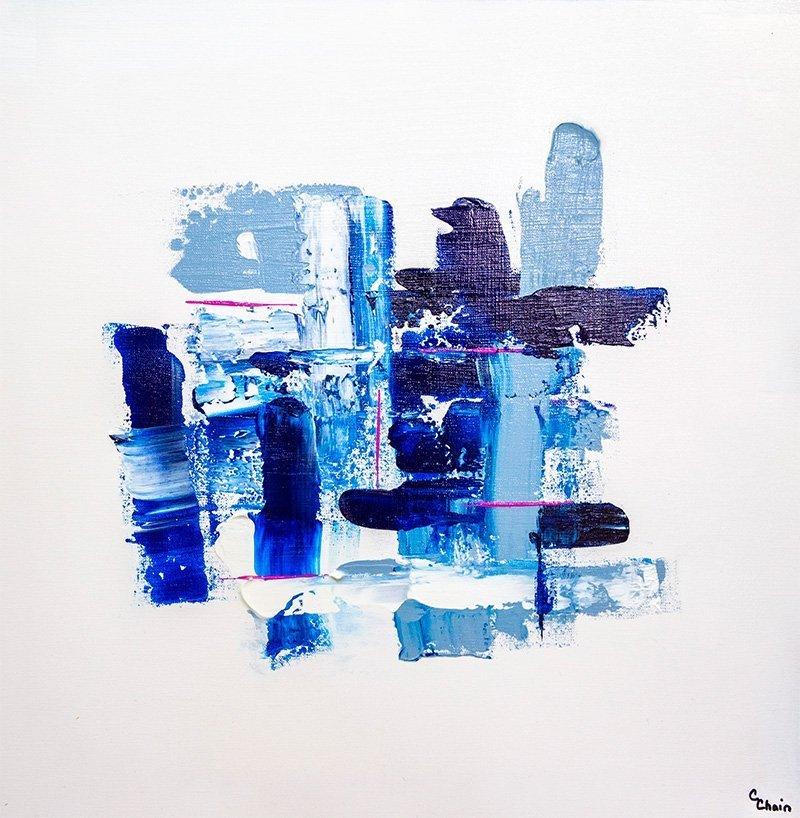 Pattern In Blue | 24x24 | Christa Chain Art
