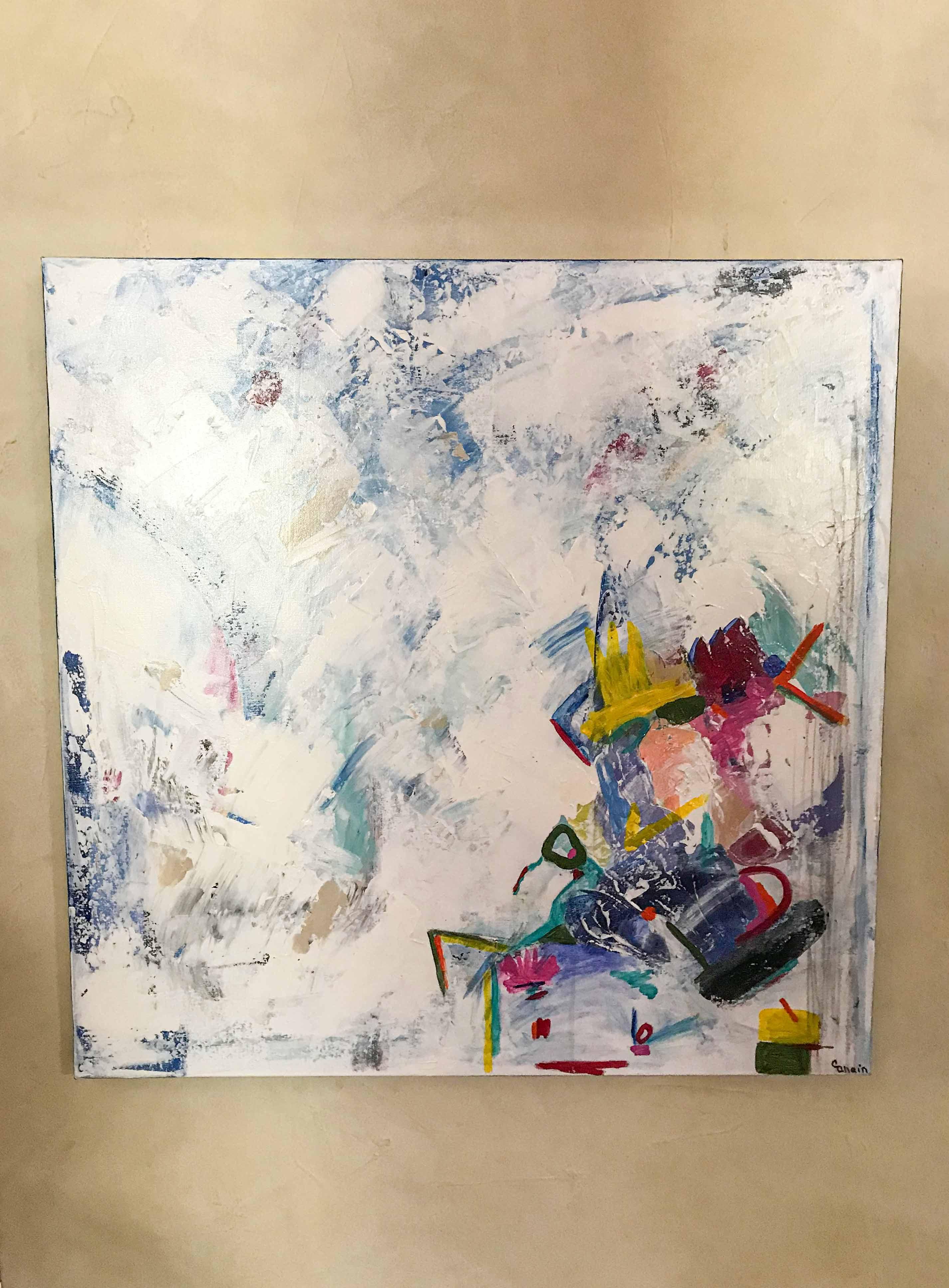 White Out | 30x30 | Christa Chain Art